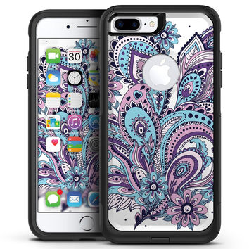 Subtle Pink and Blue Vector Sprout - iPhone 7 or 7 Plus Commuter Case Skin Kit