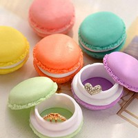 Coolrunner Colorful Mini Macaron Shape Storage Box Candy Jewelry Organizer Pill Case (6pcs)