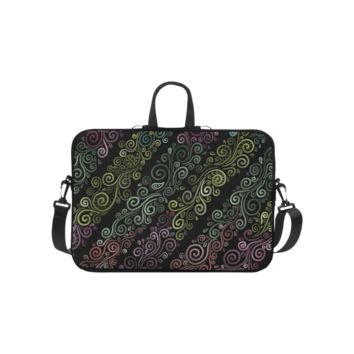 Personalized Laptop Shoulder Bag Psychedelic Pastel Handbags 10 Inch