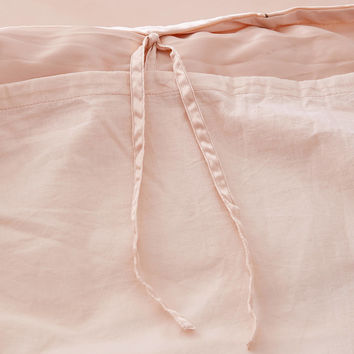 Modern Ruched Satin Duvet Cover | Urban Outfitters