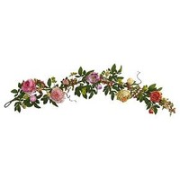 Mixed Peony and Berry Silk Garland - Berry (60'')