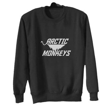 new arctic monkeys sweater Black Sweatshirt Crewneck Men or Women for Unisex Size with variant colour