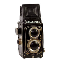 Vintage Styled Dark Polished Creative Resin Camera