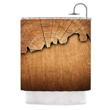 "Susan Sanders ""Natural Wood"" Rustic Nature Shower Curtain"