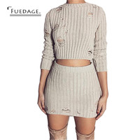 2017 Happy new year christmas dress women vintage holes sexy bodycon dress Knitted holes sweater casual club dress plus size