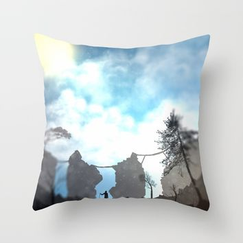 Explore Throw Pillow by Moonlit Emporium