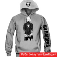 "Marilyn Monroe Raiders Hoodie ""3 Prints"" Sports Clothing"