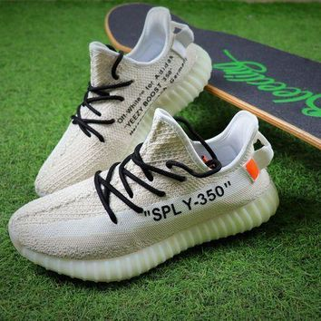 PEAPNW6 OFF White x Adidas Yeezy Boost 350 V2 Sport Shoes Sneaker