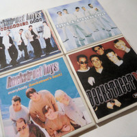Backstreet Boys Album Cover Ceramic Coasters set by myevilfriend