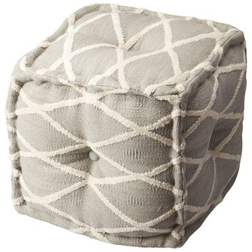Butler Berkeley Grey Cotton Pouffe