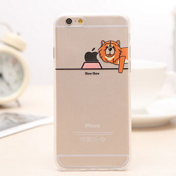 Eat Apple's Dog iPhone 5s 6 6s Plus creative case Gift-99