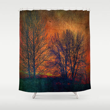 silhouettes Shower Curtain by Sylvia Cook Photography