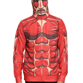Attack On Titan Colossal Titan Costume Full Zip Hoodie