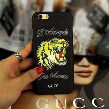 GUCCI Fashion Animal Print iPhone Phone Cover Case For iphone 6 6s 6plus 6s-plus 7 7plus-2