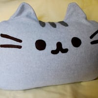 Huge PUSHEEN THE CAT Pillow - Soft and Hand-Made