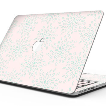The Pink and Mint Floral Sprout - MacBook Pro with Retina Display Full-Coverage Skin Kit