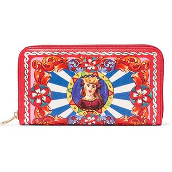 Dolce & Gabbana - Carretto printed textured-leather continental wallet