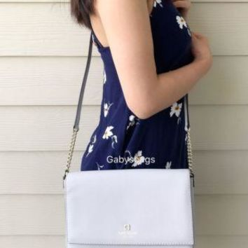 Kate Spade Charlotte Street Alek Stoneice Crossbody Shoulder Bag Light Gray