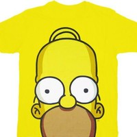 The Simpsons Homer Huge Face T-shirt - The Simpsons -   TV Store Online