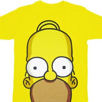 The Simpsons Homer Huge Face T-shirt - The Simpsons - | TV Store Online