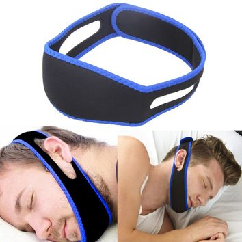 Snore Belt Sleep Apnea Chin Support Straps for Woman Man Night Sleeping