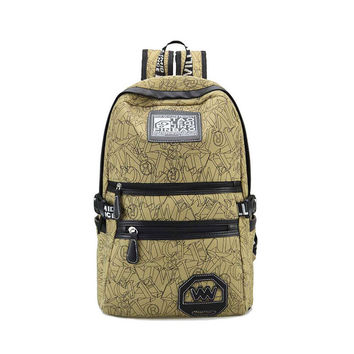 On Sale Hot Deal Stylish Comfort College Back To School Korean Canvas Casual Travel Backpack [8267901383]