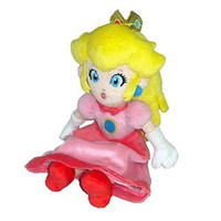 Princess Peach Plush 8in New Nintendo Super Mario Bros Sanei Toy Doll Pink Alternative Measures