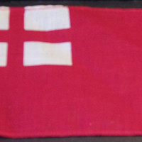 Small English Red Ensign Flag British 17th Century