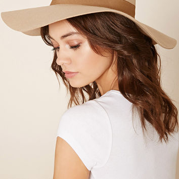 Wide-Brim Felt Floppy Hat
