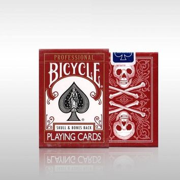Special Edition Red bicycle playing cards Skull