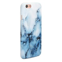 GOLINK Full Printing IMD Slim-Fit Ultra-Thin Anti-Scratch Shock Proof Dust Proof Anti-Finger Print TPU Case for iPhone 6/iPhone 6S(4.7 inch Display) - White Blue Marble