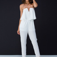 Tier It Up Strapless Jumpsuit GoJane.com