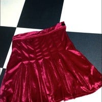 SWEET LORD O'MIGHTY! VELVET TENNIS SKIRT IN MAROON