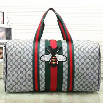Gucci Fashion Women Embroidery Leather large Capacity Luggage Travel Bags Tote Handbag G-LLBPFSH-2