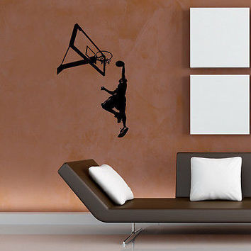 BASKETBALL SPORT GAME STYLISH WALL VINYL STICKERS  DECAL ART MURAL D2081