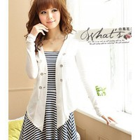 White Apparel Women New Style Spring Slim Clothing Cotton Coat One Size @GP0001w $12.57 only in eFexcity.com.