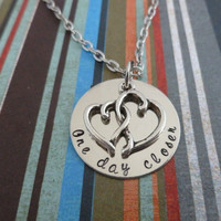 One day Closer - Hand Stamped Necklace