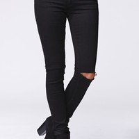 Cheap Monday Prime Slit Knee Skinny Jeans - Womens Jeans - Black - SZ