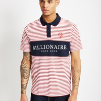 Billionaire Boys Club Monaco Polo Shirt Red Stripe - Billionaire Boys Club - Brands at The Idle Man