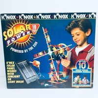1997 VINTAGE K'NEX SOLAR POWER BUILDING SET, NO BATTERIES REQUIRED
