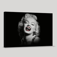 Black and Red Marilyn Monroe Canvas Printing | Marilyn Monroe Art Canvas | Large Canvas Print