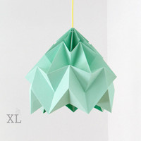 XL Moth origami lampshade ice mint