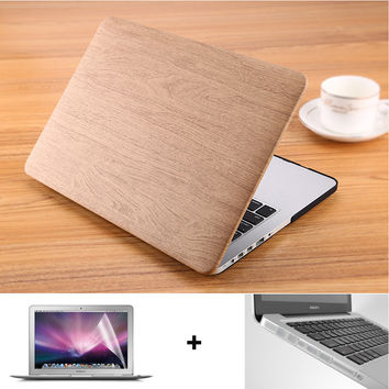 Apple Macbook Case WOOD GRAIN Leather | FREE SHIPPING