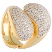 Cartier Le Yin et Le Yang Diamond Pave Yellow Gold Ring