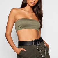 Tall Basic Cropped Bandeau | Boohoo