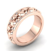 Skull Wedding Ring Rose Gold 10 k