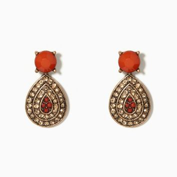 Fiorella Pavé Drop Earrings | Charming Charlie