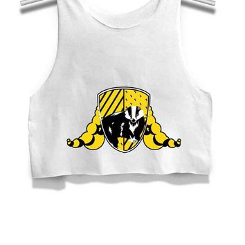 LMFP7V Harry Potter Hufflepuff Womens Crop Tank Top
