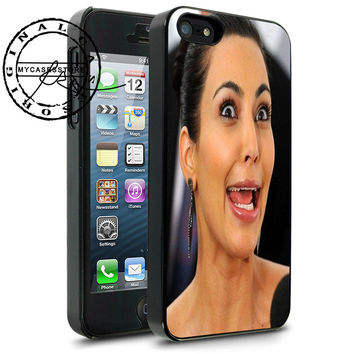 Kim Kardashian Funny Face iPhone 4s iPhone 5 iPhone 5s iPhone 6 case, Samsung s3 Samsung s4 Samsung s5 note 3 note 4 case, Htc One Case
