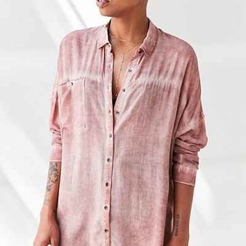 Silence + Noise Justine Dolman Button-Down Shirt - Urban Outfitters